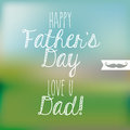 Happy fathers day over pattern background vector illustration Stock Photos