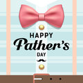 Happy fathers day pink ribbons with blue shirt design Royalty Free Stock Photo