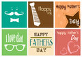Happy fathers day print over white background vector illustration Royalty Free Stock Photo