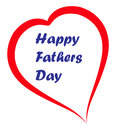 Happy fathers day simple illustration of card Stock Photo