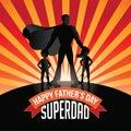 Happy fathers day superdad burst eps vector royalty free stock illustration Royalty Free Stock Photo