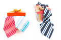 Happy fathers day tag with gift boxes and tie see my other works in portfolio Royalty Free Stock Images
