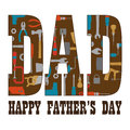 Happy fathers day with tool pattern