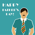Happy fathers day vector illustration Royalty Free Stock Photos