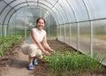 Happy female farmer