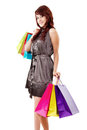 Happy female shopper Royalty Free Stock Photo