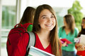 Happy female student Royalty Free Stock Photo