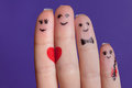 Happy fingers family in love Royalty Free Stock Photography