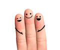 Happy fingers isolated with clipping paths on whi hug white background Royalty Free Stock Image