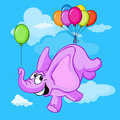 Happy flying elephant Royalty Free Stock Image