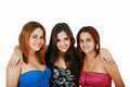 Happy friends three beautiful girls Royalty Free Stock Photography