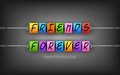 Happy friendship day background easy to edit vector illustration of Stock Photos