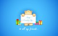 Happy friendship day illustration of cute teddy bear wishing Royalty Free Stock Photos