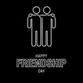 Happy Friendship Day text for friends greeting card