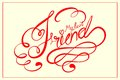 Happy friendship day vector illustration of calligraphic design Stock Photos