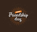 Happy Friendship day vector typographic design.
