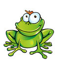 Happy frog cartoon hand draw Royalty Free Stock Image
