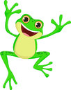 Happy Frog cartoon jumping