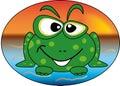 Happy froggy Royalty Free Stock Photo