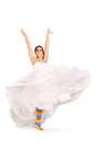Happy fun bride Royalty Free Stock Photo