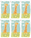 Happy giraffe visual game children illustration eps mode task find two identical images match pair answer no Royalty Free Stock Image