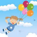 Happy Girl with Balloons Royalty Free Stock Photo