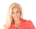 Happy girl with blond hair Royalty Free Stock Images