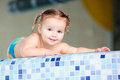 Happy Girl Child Baby In Swimming Pool Royalty Free Stock Photo