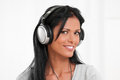 Happy girl listening music Stock Photo