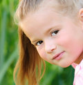 Happy girl outdoors Royalty Free Stock Images