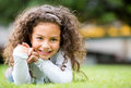Happy girl at the park Royalty Free Stock Photo
