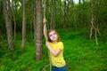 Šťastné dievča v les džungľa