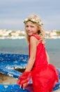 Happy girl posing Royalty Free Stock Photo