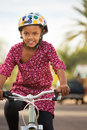 Happy Girl Riding Bike Royalty Free Stock Photo