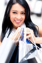 Happy girl shopping Stock Photos
