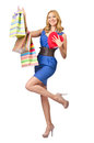 Happy girl after shopping Royalty Free Stock Images