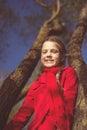 Happy girl springtime Royalty Free Stock Photo