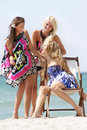 Happy girls on beach Royalty Free Stock Photo
