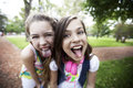 Happy girls having fun Royalty Free Stock Photo