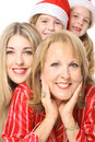 Happy girls Three generations Royalty Free Stock Photos