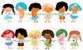 Happy global kids children Royalty Free Stock Photo