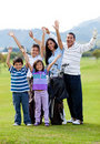Happy golf family Royalty Free Stock Photo