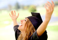 Happy graduate woman Stock Image