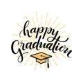 Happy Graduation. Hand drawn lettering