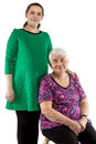Happy grandma and granddaughter Royalty Free Stock Photo