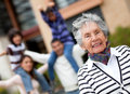 Happy grandmother Stock Photography