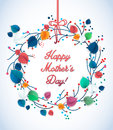 Happy greeting mother s day spring card floral illustration for and birthday Royalty Free Stock Photo