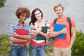 Happy group of college students Royalty Free Stock Photo