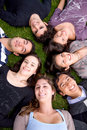 Happy group of friends Royalty Free Stock Photos