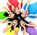 Happy group of friends smiling Royalty Free Stock Photography
